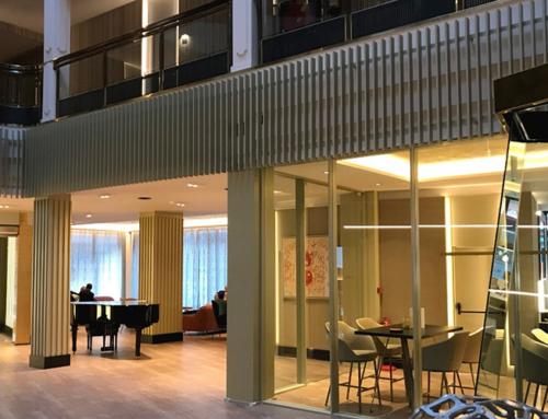 Obres de tancament a l'Hotel Plaza d'Andorra
